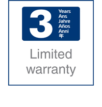 3 years limited warranty icon