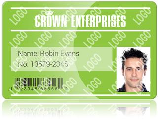 ID card with custom holokote