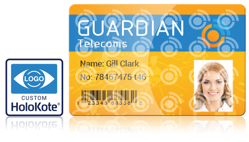 Print secure custom watermark on your id cards