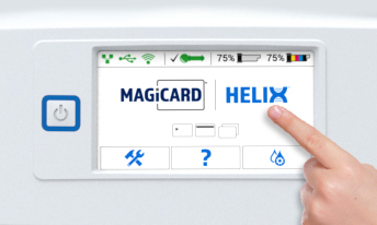 Magicard helix touch screen display
