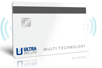 Ultrasecure multi technology, contact chip, magnetic strip and contactless cards