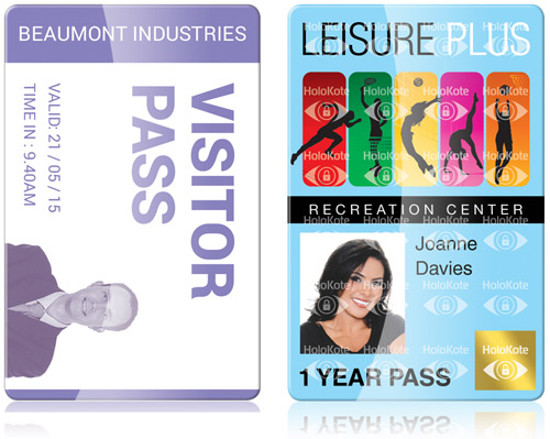 Print Vistor pass ID as well as Leisure and membership cards