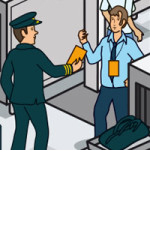 Visual ID card for airports